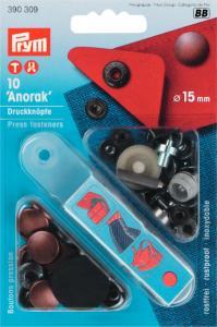 Nittryckknapp 15mm 10st Anorak