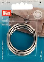 Fjäder ring väska silver 2-pack 35mm