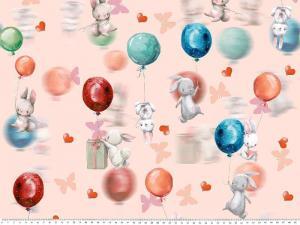 Trikå Kanin med balong peach
