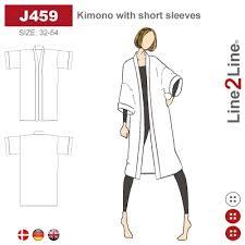 Kimono with short sleeves