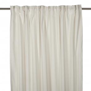 Velvet sammets gardin off white 240cm