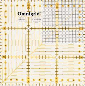 Quiltlinjal 15x15 cm (omnigrid)