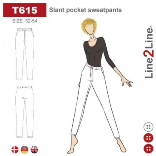 Slant pocket sweatpants
