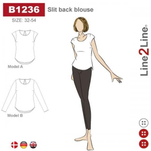 Slit back blouse