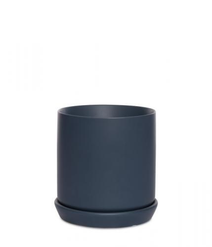 Lino med mörkblåt fat