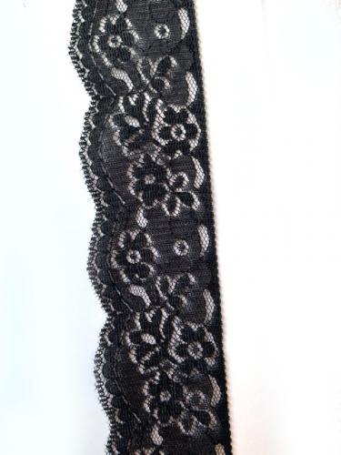 svart nylonspets elastisk