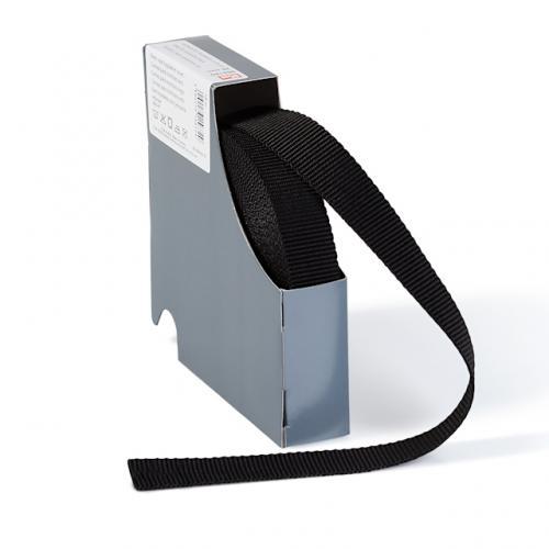 Väskband 2cm svart polyester