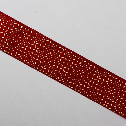 decorband 3 mm röd/guld