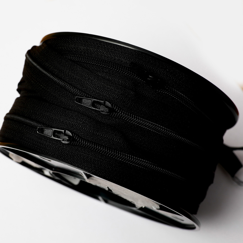 Blixtlås metervara svart 6mm