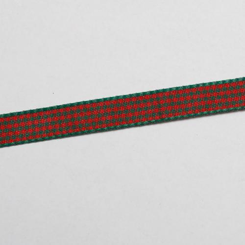 Dekorationsband rutig röd grön 10mm