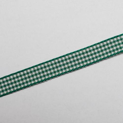 Dekorationsband rutig grön vit 10mm