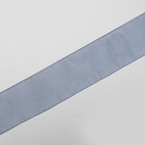 Decorband Organza 64mm Royal blå