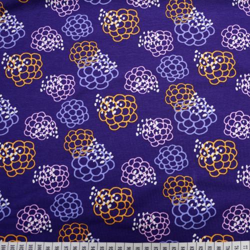Trikå Lila med mönster