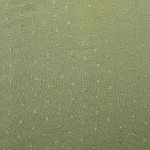 Bom/ Pol med broderad prick Olivgrön