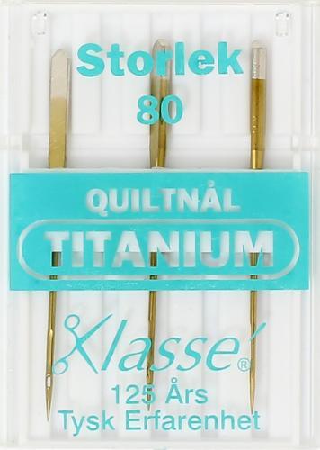 Quiltnål Titanium 80