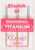 Broderinål Titanium 80