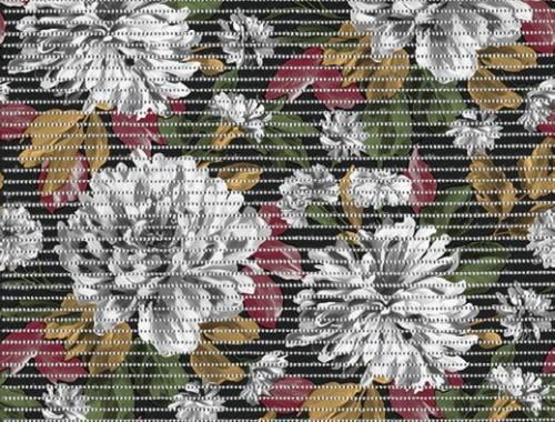 Softymatta blommig, rost B 65 cm