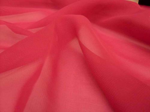 Chiffong Röd 13 100% PES 150cm