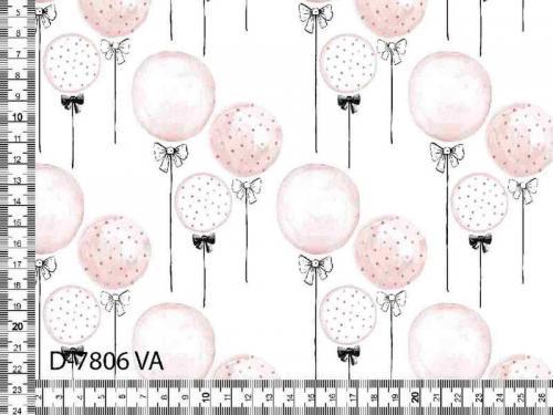 Trikå Rosa ballonger Oeko Tex