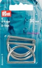 D Ringar 30mm 4 styck