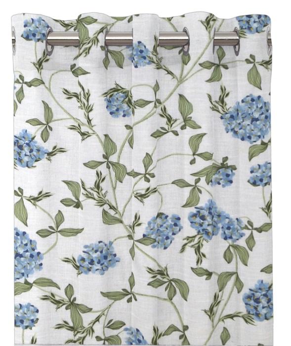 Blåblommiga gardinlängder  Paula