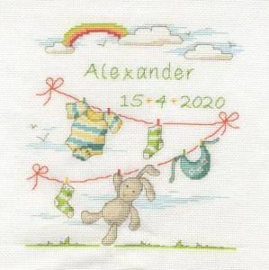 "Broderi kit ""Alexander"" födelse broderi  19x20cm"