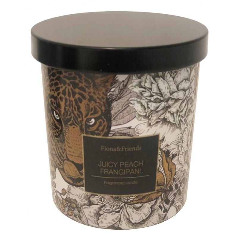 Doftljus med lock White peache frangipani