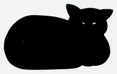 Grytunderlägg, Liggande katt. Svart