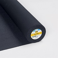 Vlieselin vävt 90 cm svart