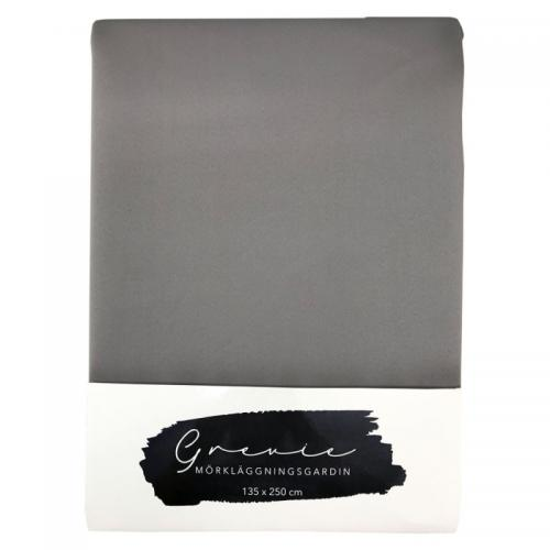 Grevie 24 mörkgrå mörkl 135*250cm