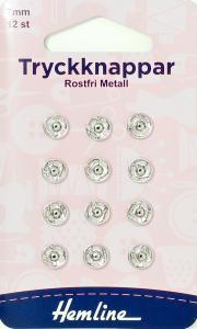 TRYCKKNAPPAR 7 MM FÖRNICK -12 ST.