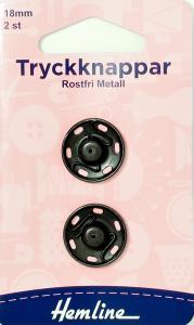 TRYCKKNAPPAR 18 MM SVARTA