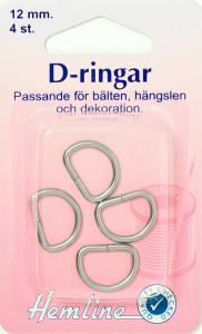 D-RING 4 X 12 MM FÖRNICKLAD