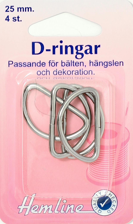 D-RING 4 X 25 MM FÖRNICKLAD