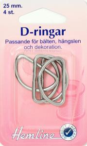 D-RING 4 X 25 MM FÖRNICKLAD
