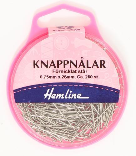 KNAPPNÅLAR 26 MM x 0.67 - 25 gr.