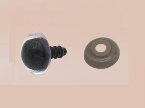 Djurögon (säkerhets) 14mm svart