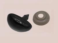 Djurnos 20mm (säkerhets) med näsborr svart