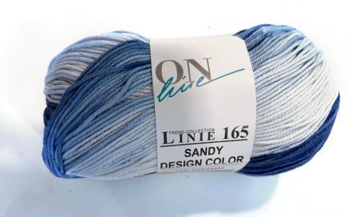 Linie 165 Sandy design blå/vit mellerad
