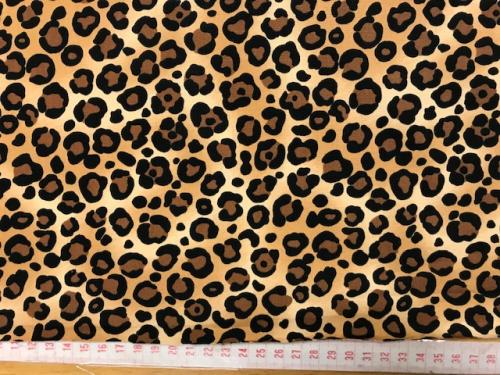 Leopard mönstrat poplin