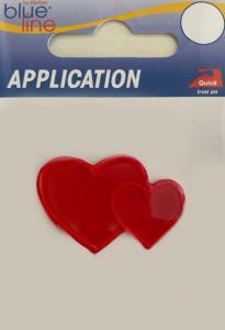 Brodyrmärke Hjärtan 4x2,5cm