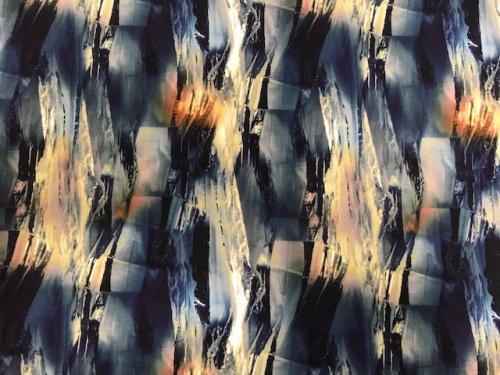 Viskos Blå abstrakt  oeko tex