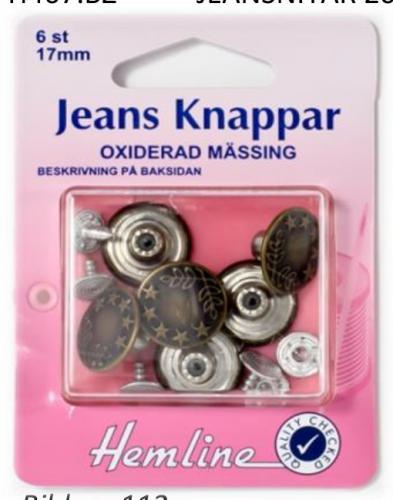 JEANSKNAPPAR - 6 st.