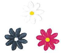 Brodyrmärke 3 blommor