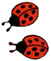 Brodyrmärke Nyckelpigor  2,5x1,5cm