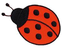 Brodyrmärke Nyckelpiga 4,4x6,7cm