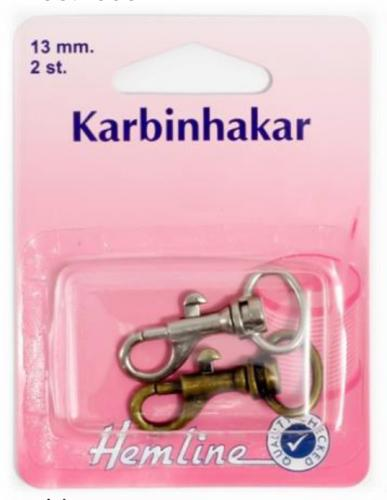 KARBINHAKE 2 x 13 MM SORT.