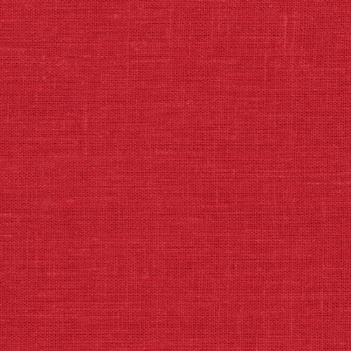 Linne Kerstin 237 röd tvättad 150 cm