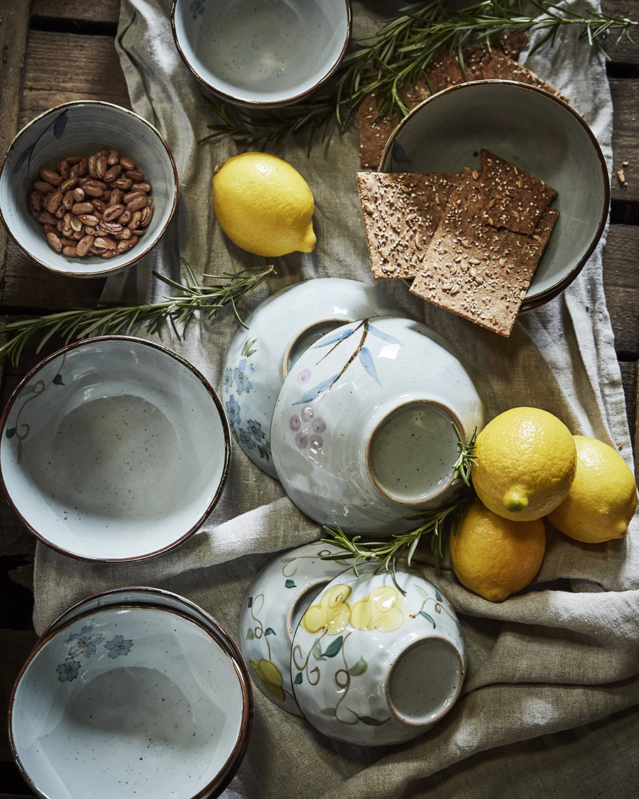 Skål Landala med gulablommor, stor