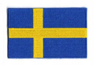 "BRODYRMÄRKE, ""SVENSK FLAGGA"" 25 x 36mm"
